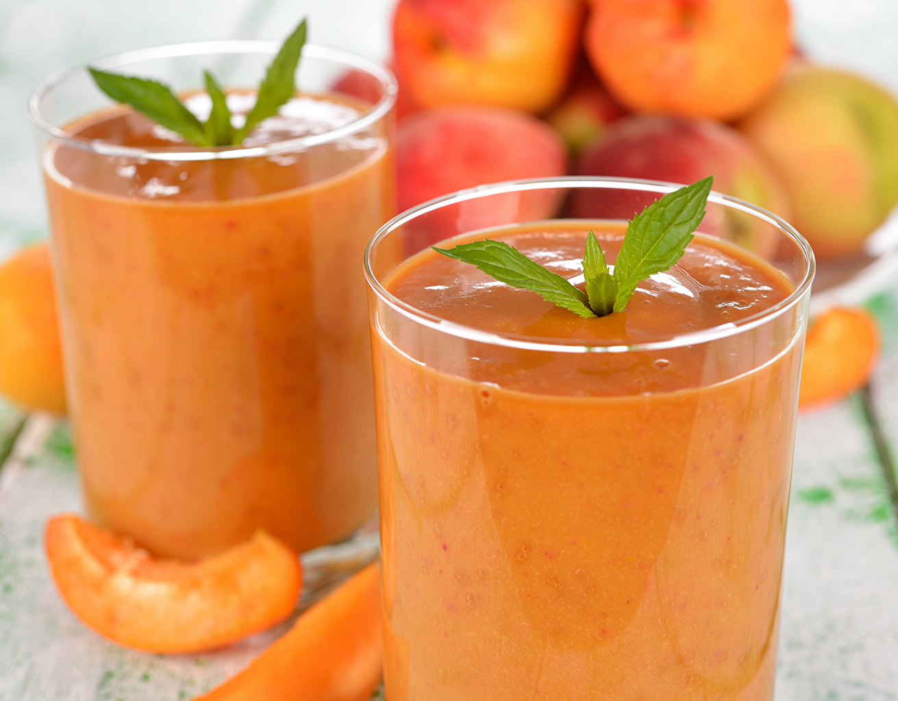 Картинки Сок стакане Персики Пища напиток Стакан стакана Еда Продукты питания Напитки