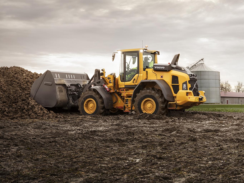 Фото Вольво Ковшовый погрузчик 2015-19 L70H в грязи Volvo Грязь грязный