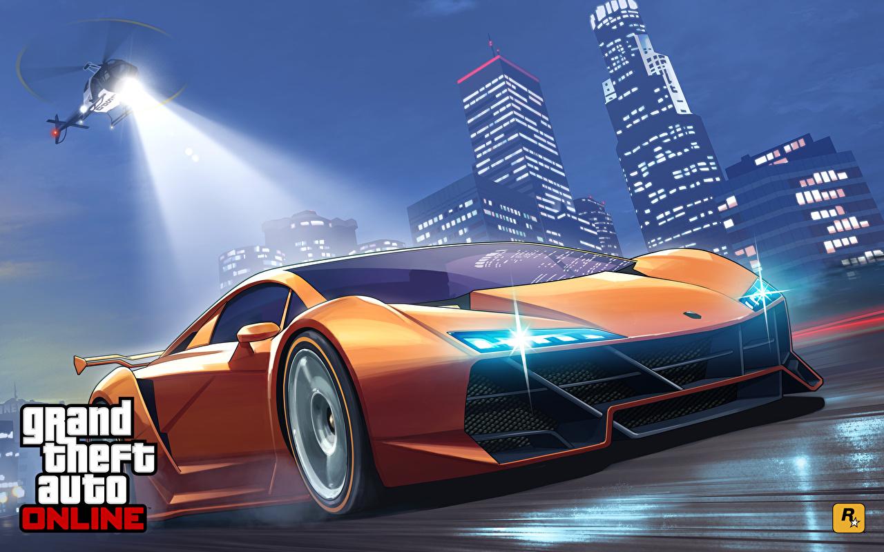 Фотография Grand Theft Auto Lamborghini Вертолеты Online Sesto Elemento компьютерная игра авто GTA вертолет Ламборгини Игры машина машины автомобиль Автомобили