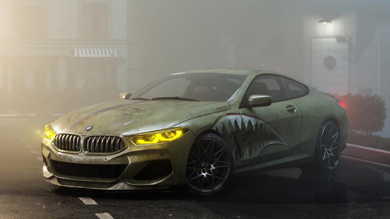 Фотографии BMW Тюнинг M8 M850i by Alexander Lukyanenko Купе зеленые машины БМВ Стайлинг зеленых Зеленый зеленая авто машина автомобиль Автомобили