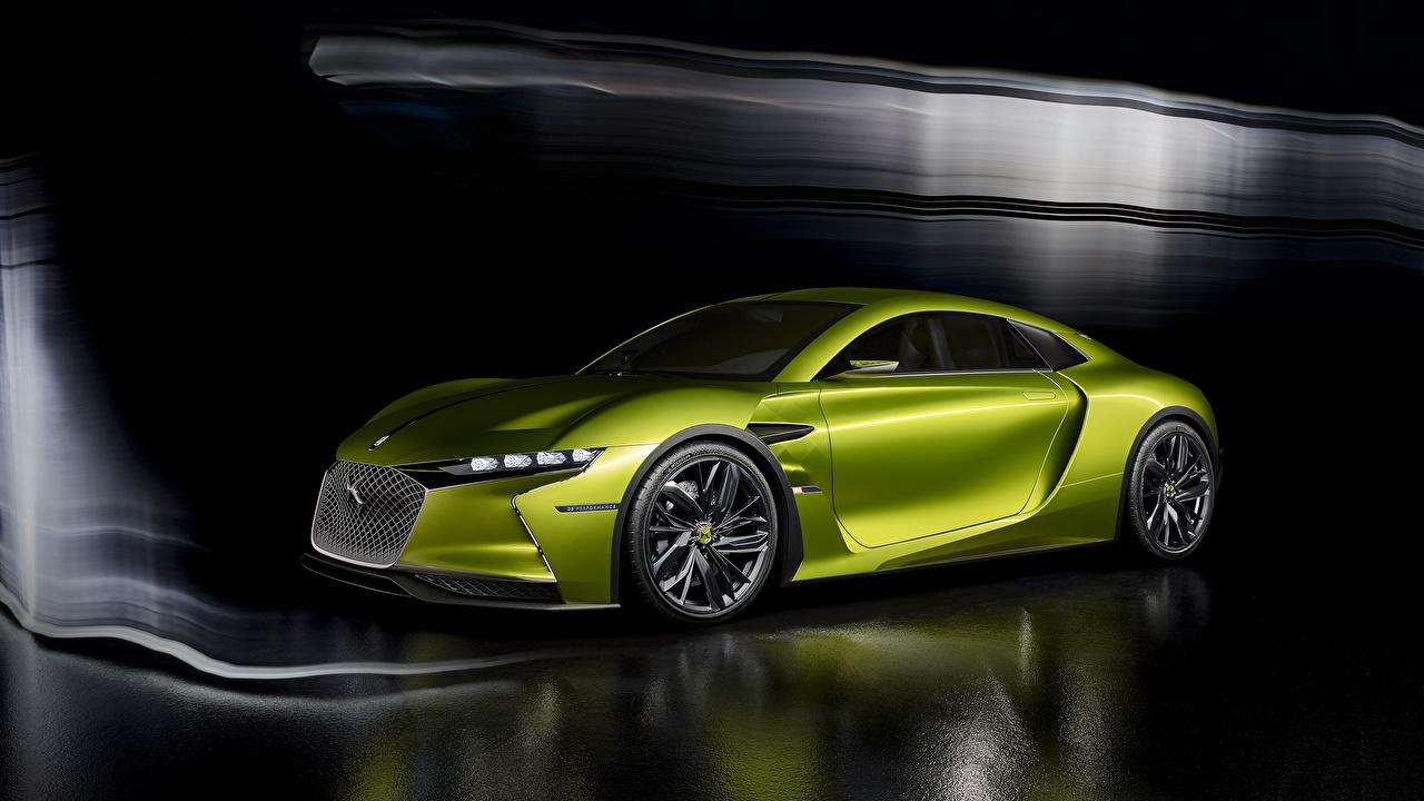 Картинки Citroen 2016 DS E-Tense concept салатовая Автомобили Ситроен Салатовый салатовые желто зеленый авто машина машины автомобиль