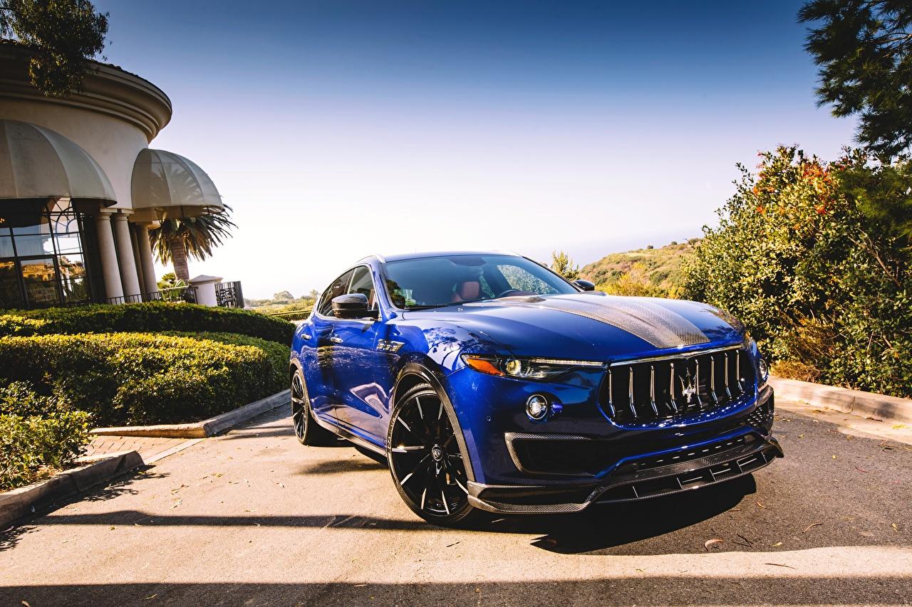 Фотография 2017 Larte Design Maserati Levante Shtorm Синий Авто Металлик Мазерати Машины Автомобили