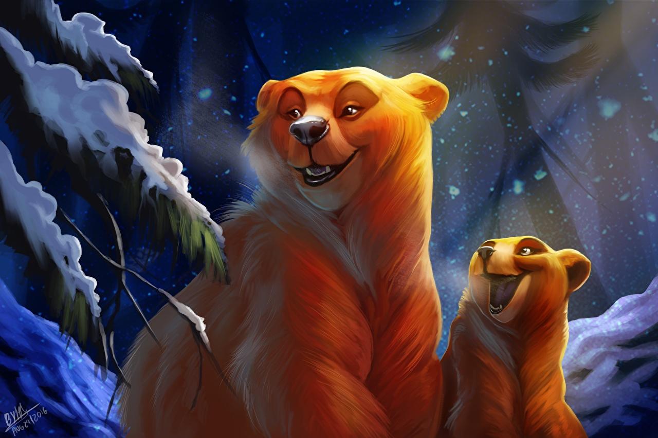 Фотография Бурые Медведи Медведи Детеныши by TehChan Милые Животные Гризли Миленькие