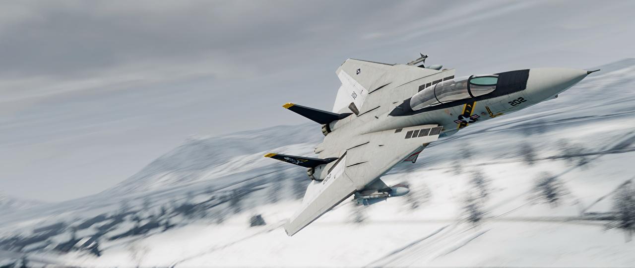 Фотографии GTA 5 Истребители Самолеты Американские Grumman F-14D Super Tomcat 3D Графика Игры Авиация ГТА 5