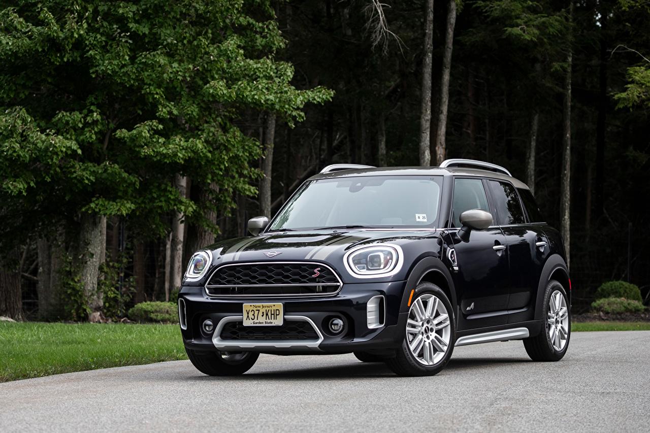 Фотография Мини Cooper S Countryman ALL4, (F60), 2020 черные Металлик Автомобили Mini черная Черный черных авто машины машина автомобиль