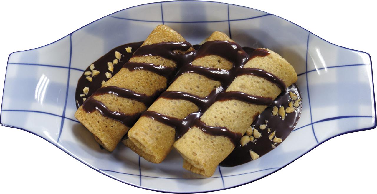 Обои Шоколад Блины Еда Тарелка Пища Продукты питания