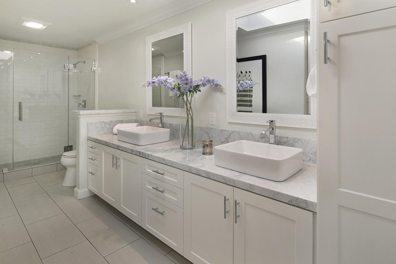 Обои Ванная Интерьер зеркал дизайна Зеркало зеркала Дизайн