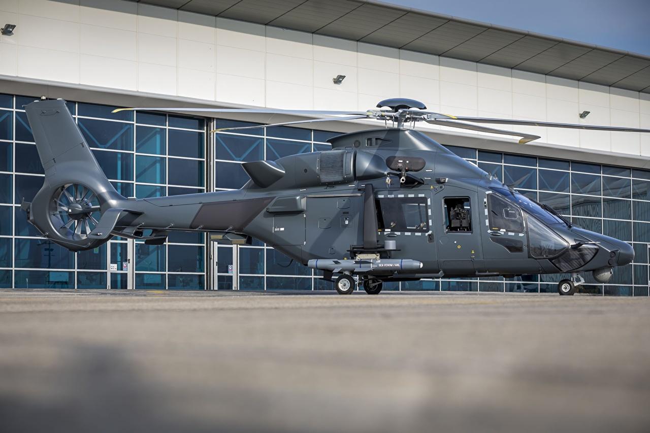 Картинка Airbus Вертолеты H160M Guepard Сбоку Авиация Эйрбас вертолет