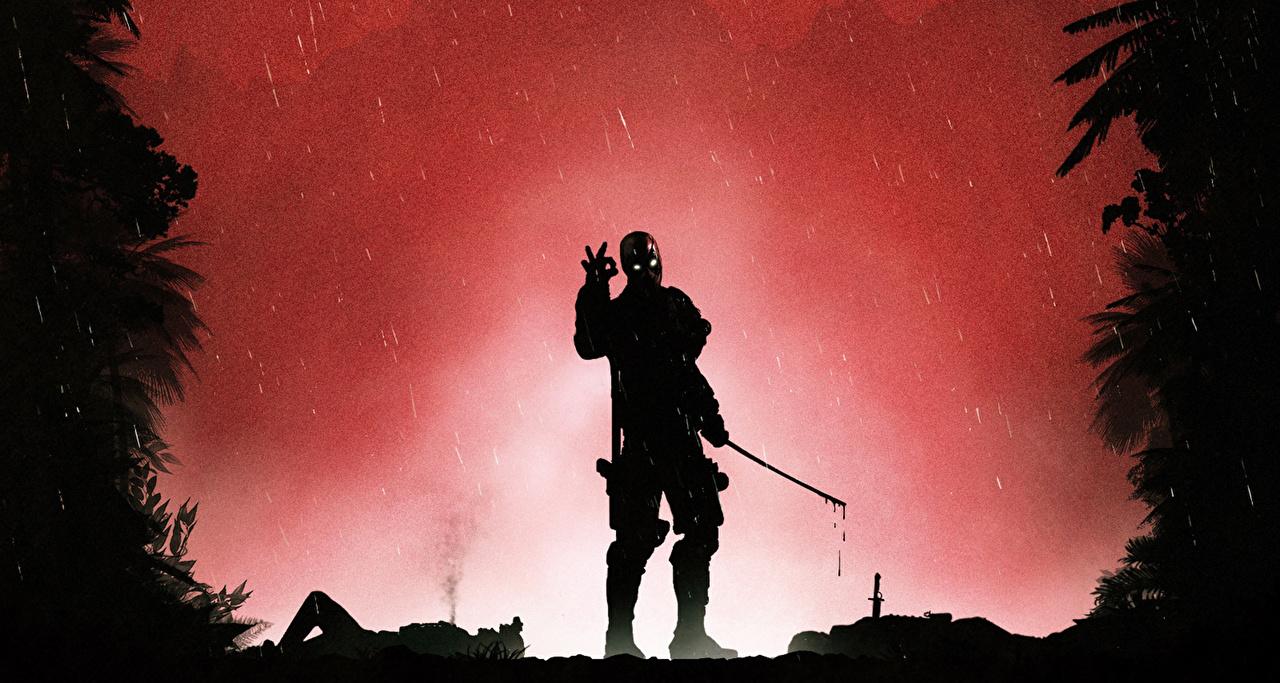 Картинка супергерои Дэдпул силуэты Фантастика Герои комиксов Deadpool герой Силуэт силуэта Фэнтези