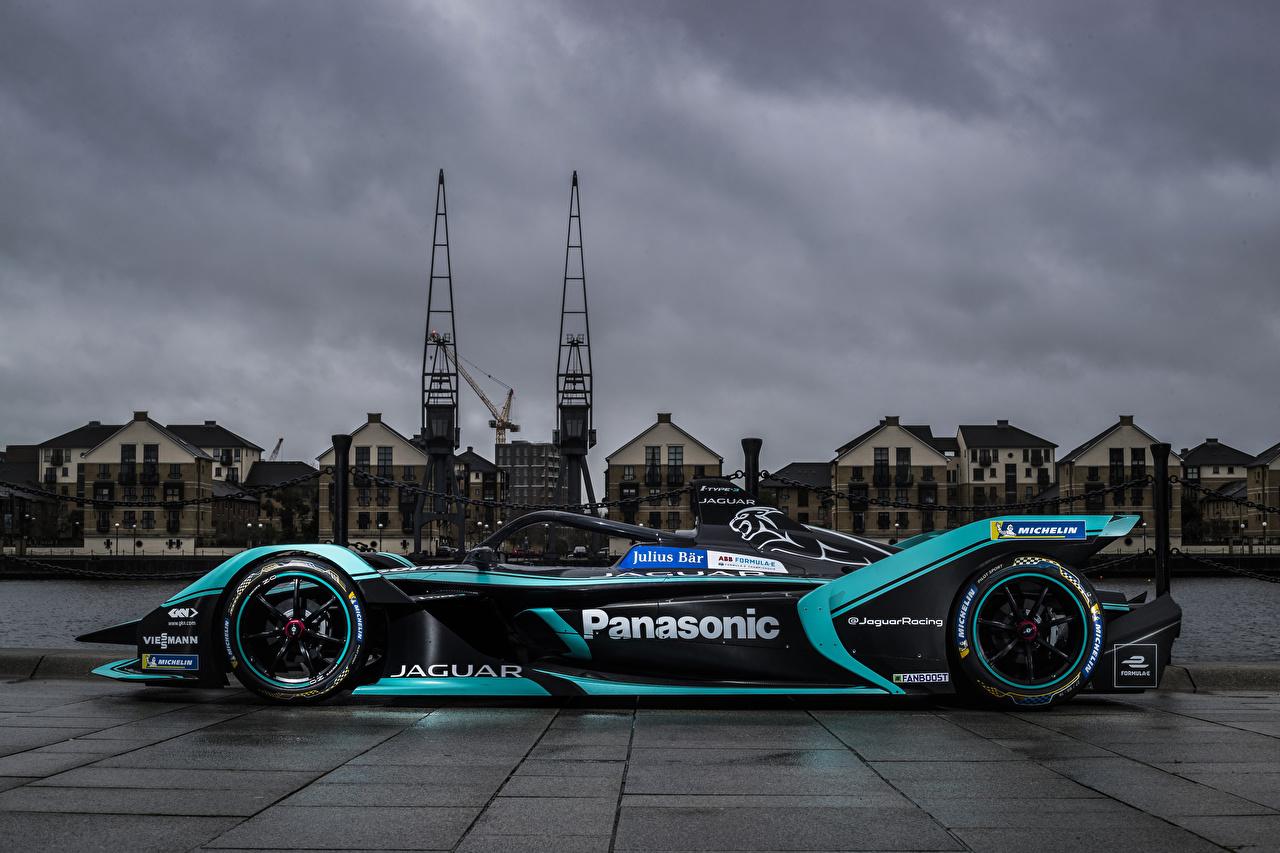 Картинка Ягуар Стайлинг 2018 I-Type 3 Формула 1 авто Сбоку Jaguar Тюнинг машина машины автомобиль Автомобили