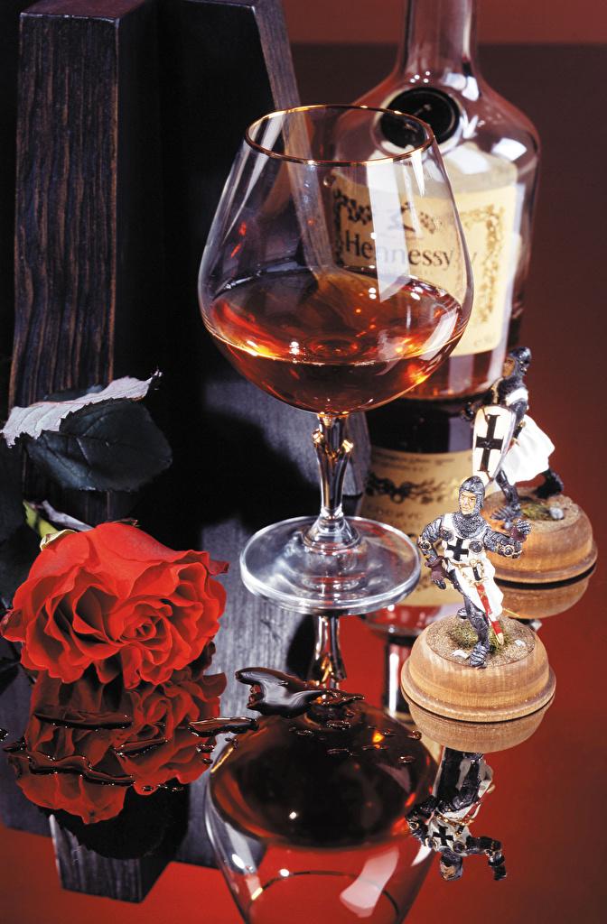 Фото Розы Виски Еда бокал Натюрморт  для мобильного телефона роза Пища Бокалы Продукты питания