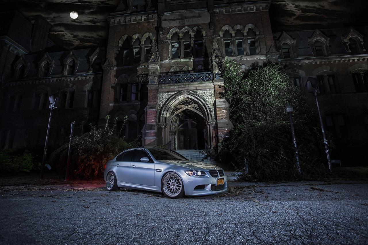 Фотография BMW m3 e90 Ночь машина БМВ авто ночью в ночи Ночные машины Автомобили автомобиль
