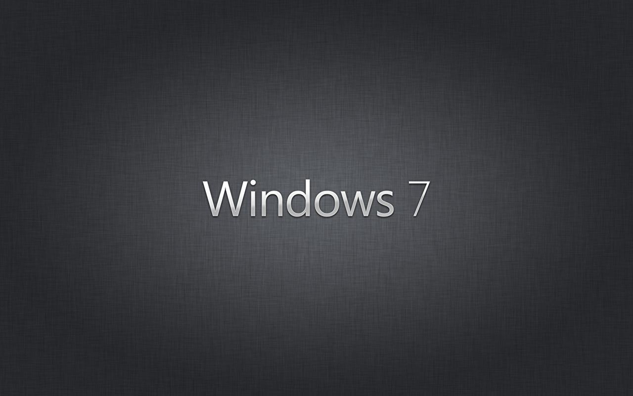 Картинка Windows 7 Windows Черный Компьютеры черных черные черная