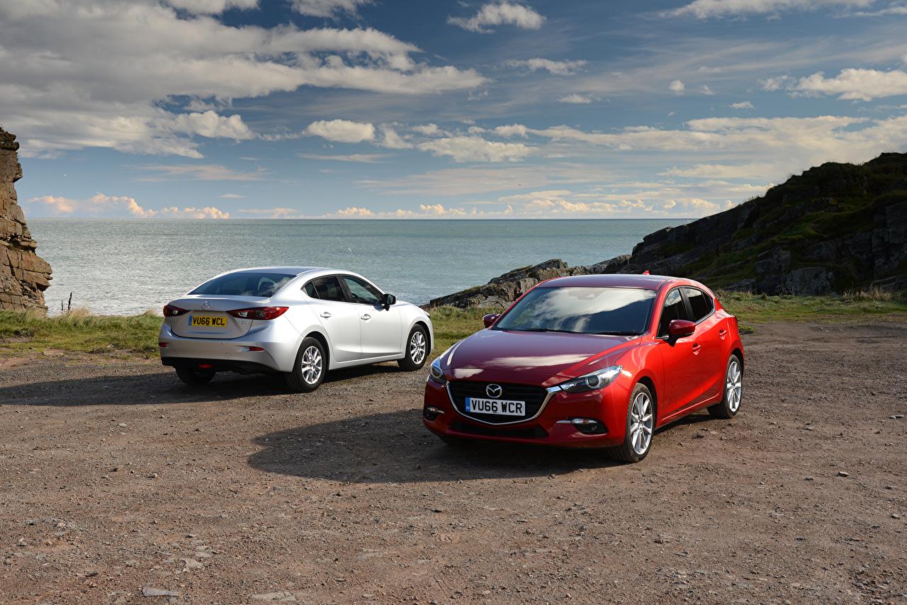 Фотография Mazda 2013-16 Mazda3 (BM) две Авто Мазда 2 два Двое вдвоем Машины Автомобили