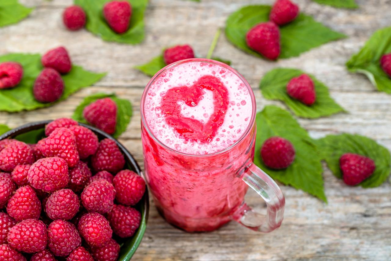 Фотография сердца Малина Еда Кружка Коктейль серце Сердце сердечко Пища кружке кружки Продукты питания