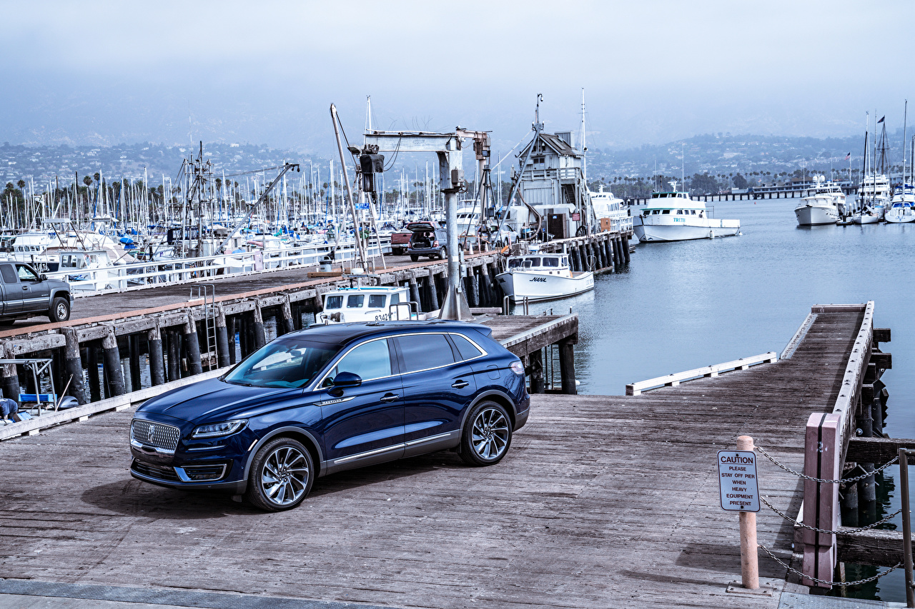 Фото Lincoln 2019 Nautilus Синий Металлик Автомобили Авто Машины