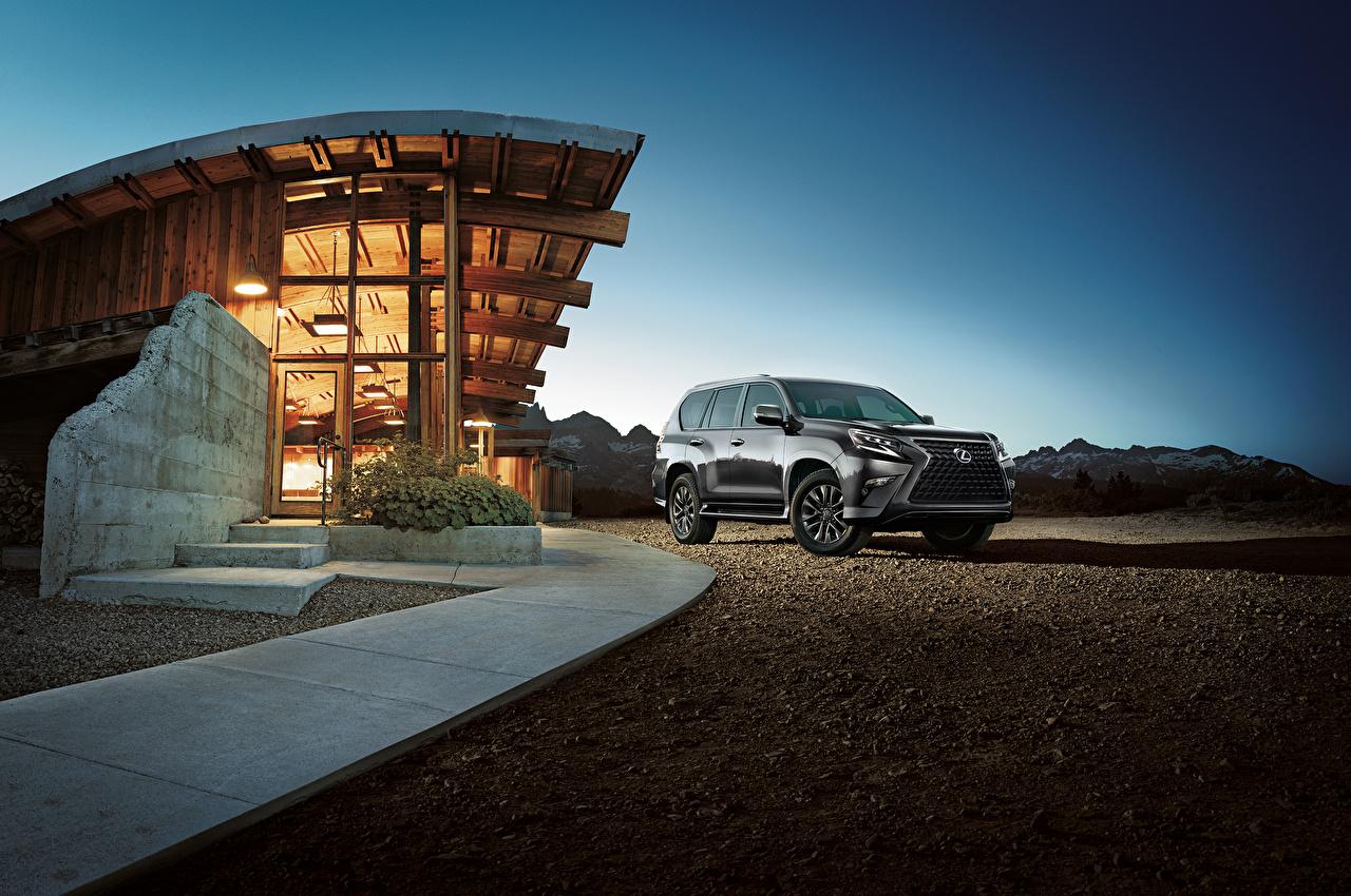 Фотографии Лексус Внедорожник 2020 GX 460 серые авто Металлик Lexus SUV серая Серый машина машины Автомобили автомобиль