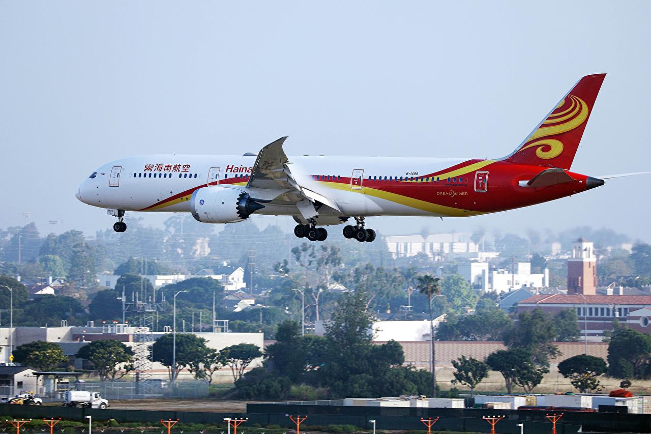 Фотографии Boeing Самолеты Пассажирские Самолеты B 787 Полет Авиация Боинг летят летит летящий