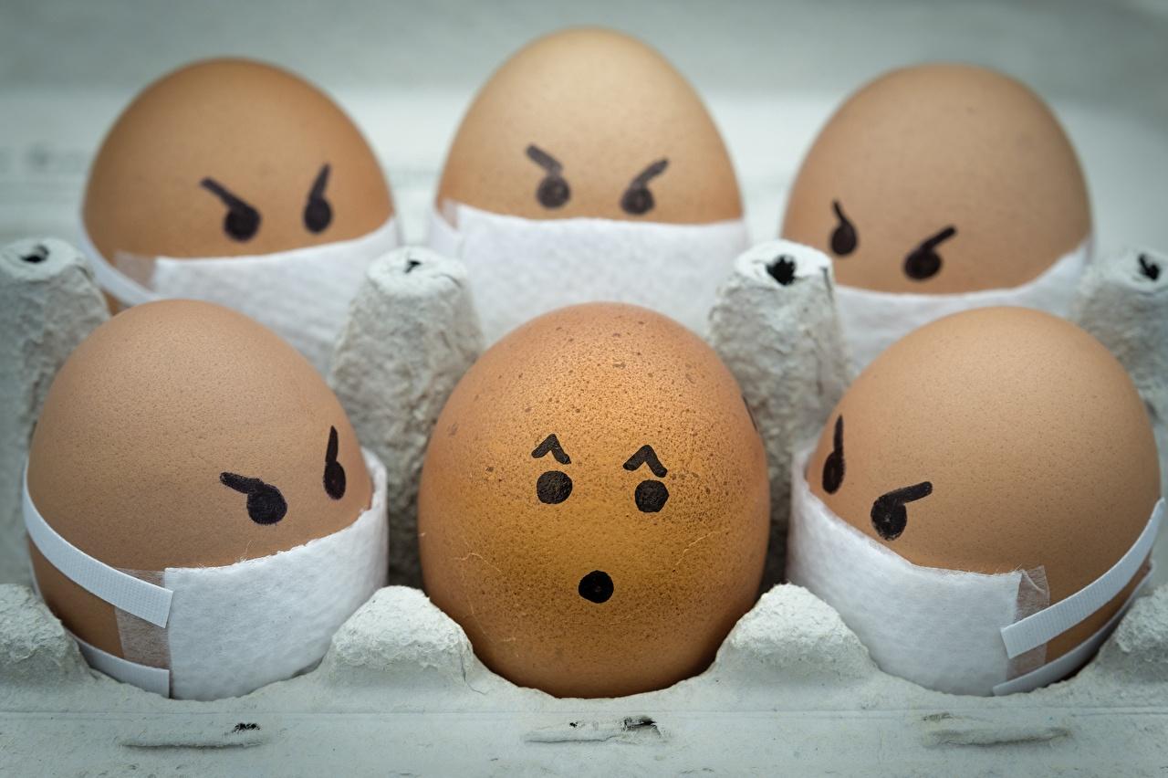 Обои для рабочего стола Коронавирус Смайлы Ali Khataw Яйца смайлики яиц яйцо яйцами