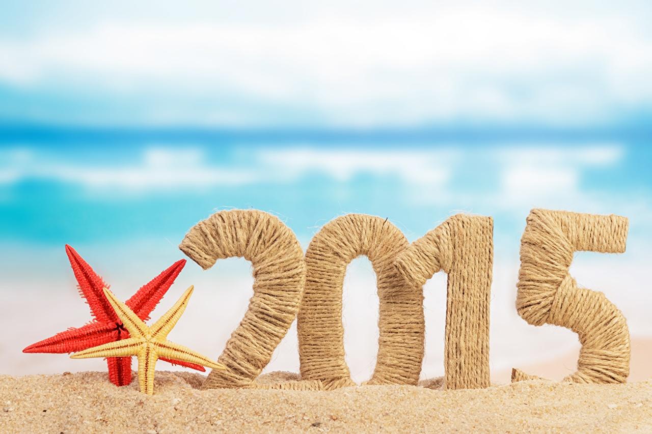 Картинки 2015 Морские звезды Рождество Песок Праздники Новый год песка песке