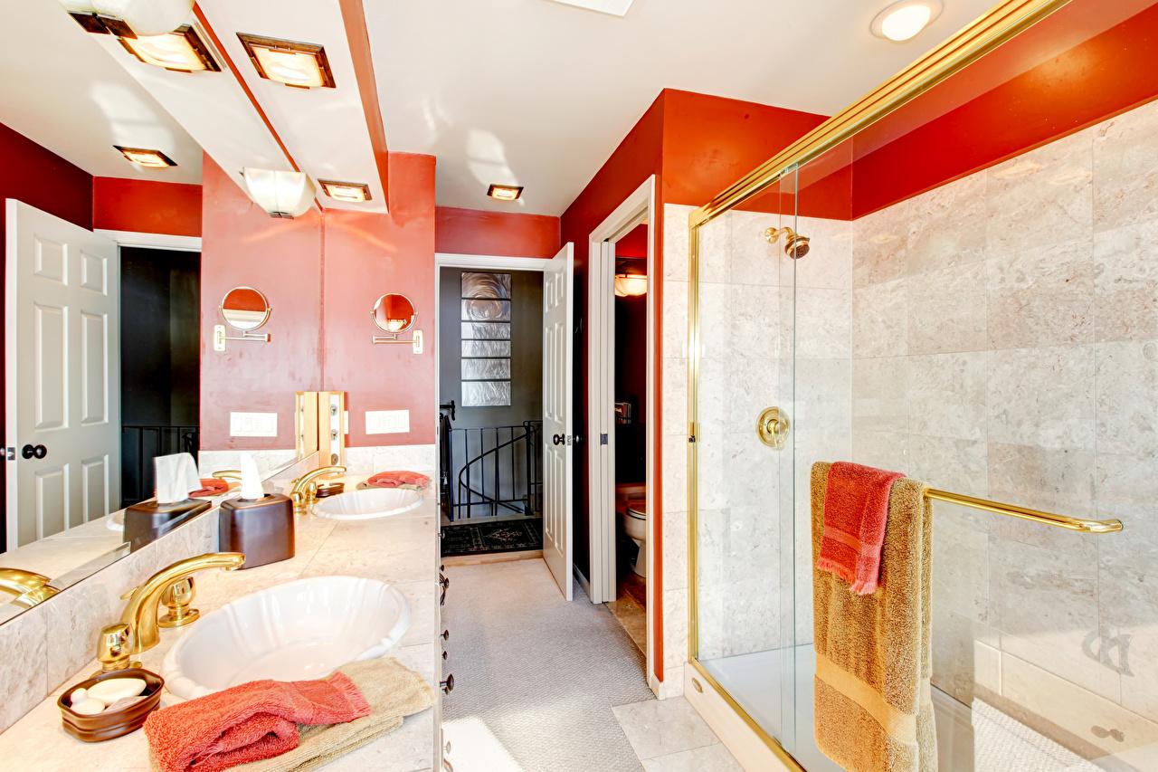 Обои для рабочего стола Ванная Интерьер дизайна Дизайн