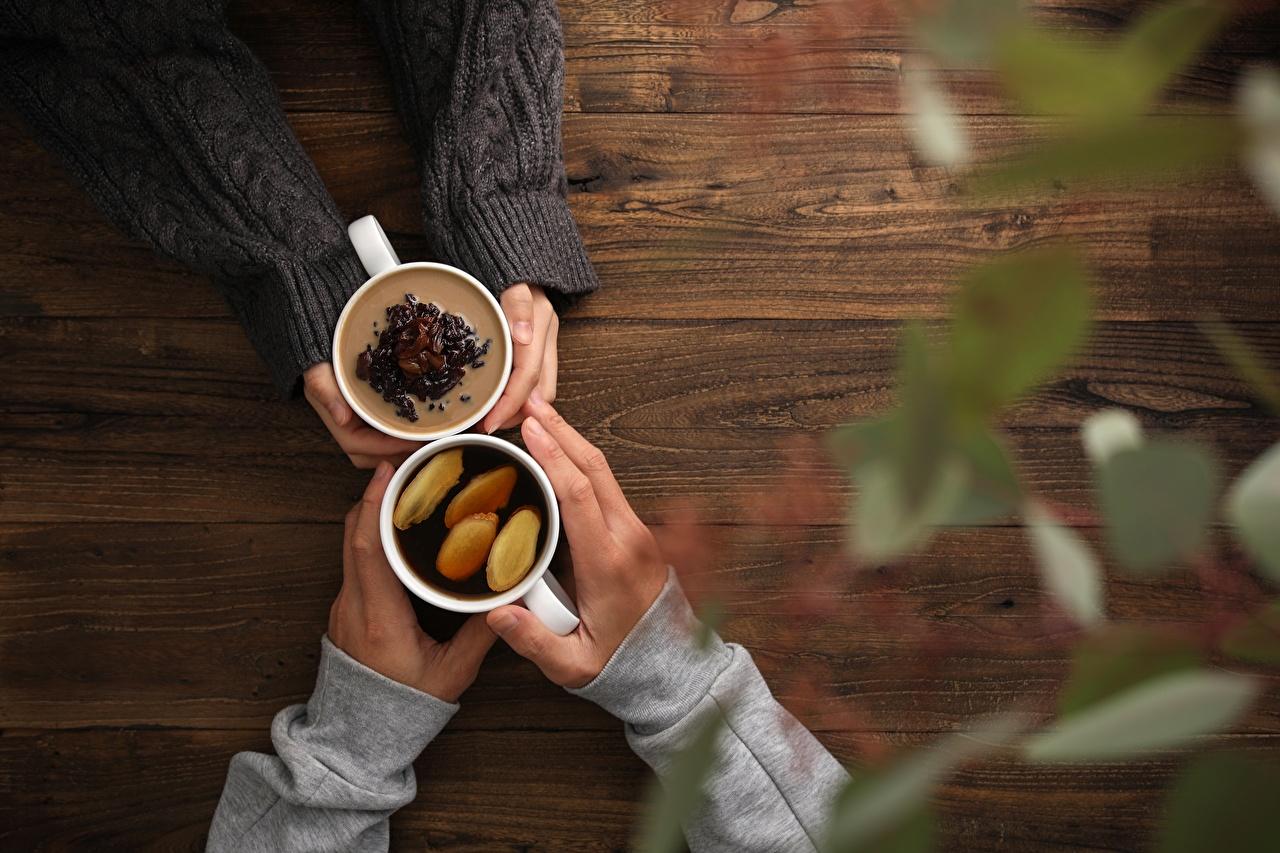 Картинка Чай Кофе Еда Руки рука Пища Продукты питания