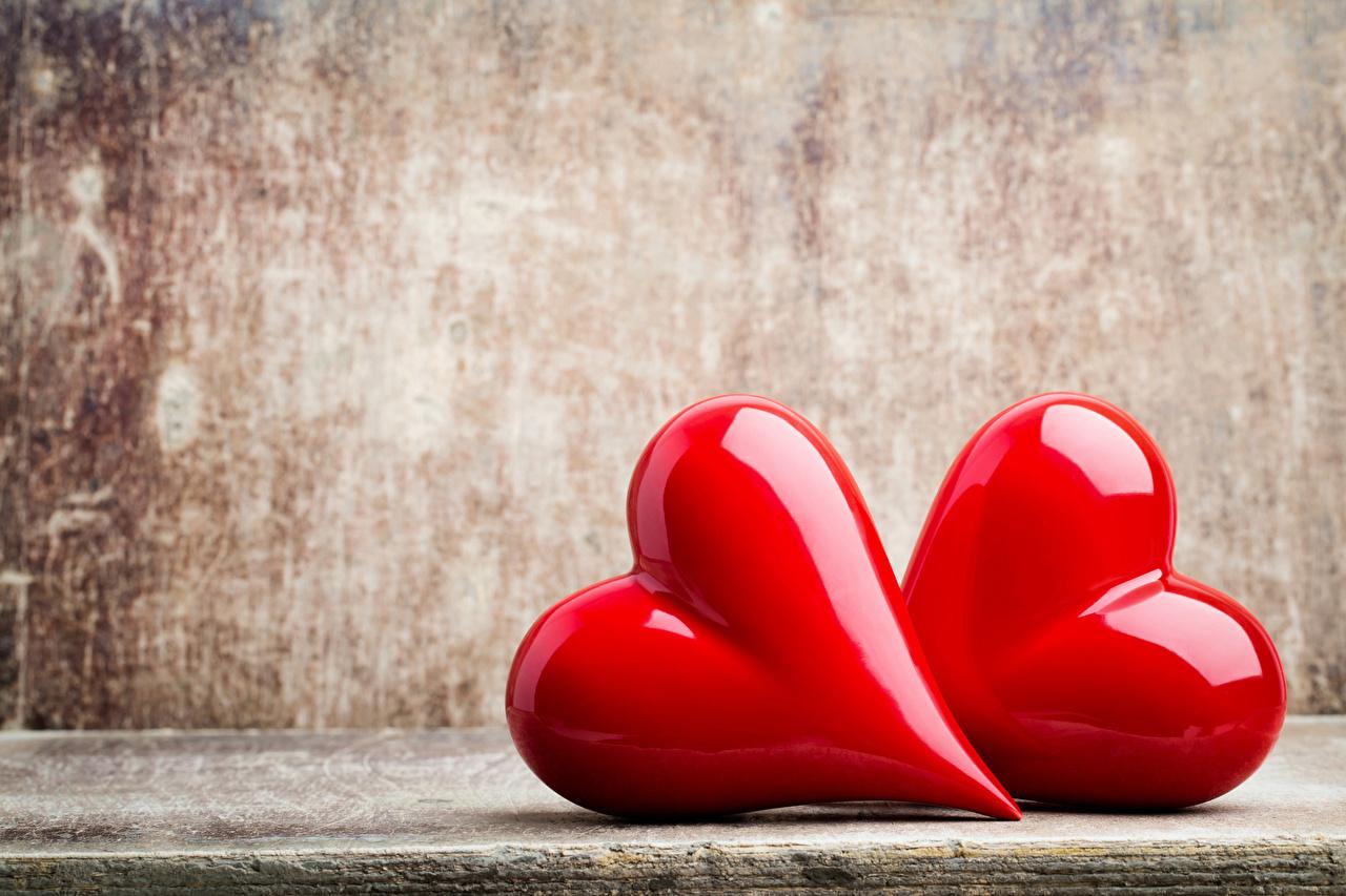 Фотография День святого Валентина Сердце Двое красная День всех влюблённых серце сердца сердечко 2 два две вдвоем Красный красные красных