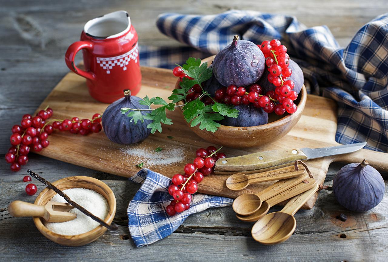 Картинки Инжир Смородина Еда Пища Продукты питания