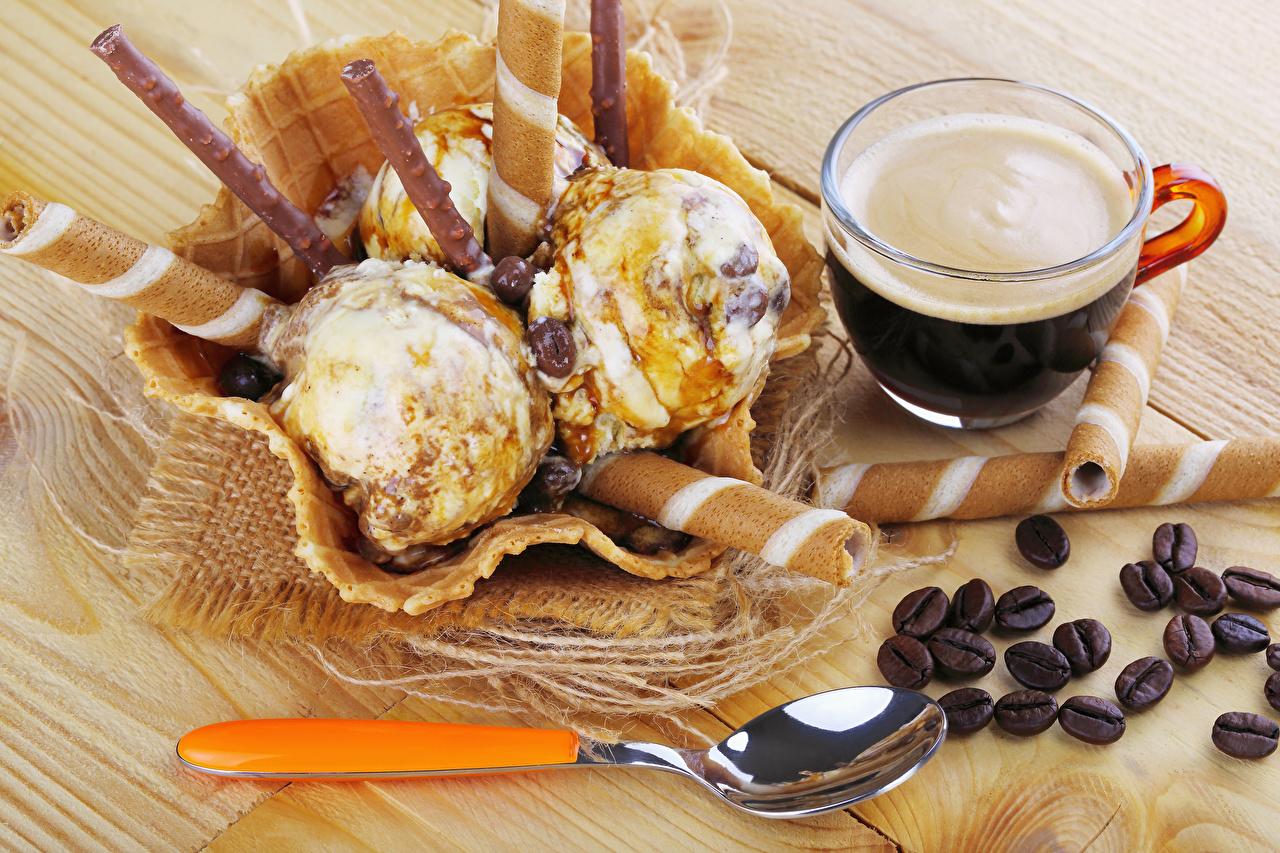 Обои для рабочего стола Кофе Мороженое зерно Еда ложки чашке сладкая еда Доски Зерна Пища Ложка Чашка Продукты питания Сладости