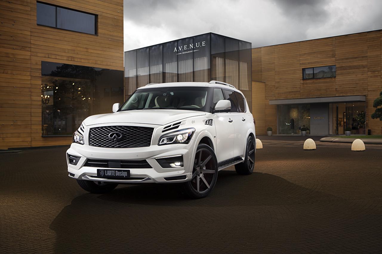 Картинки Infiniti Внедорожник Larte Design QX80 Белый Машины Инфинити SUV Авто Автомобили