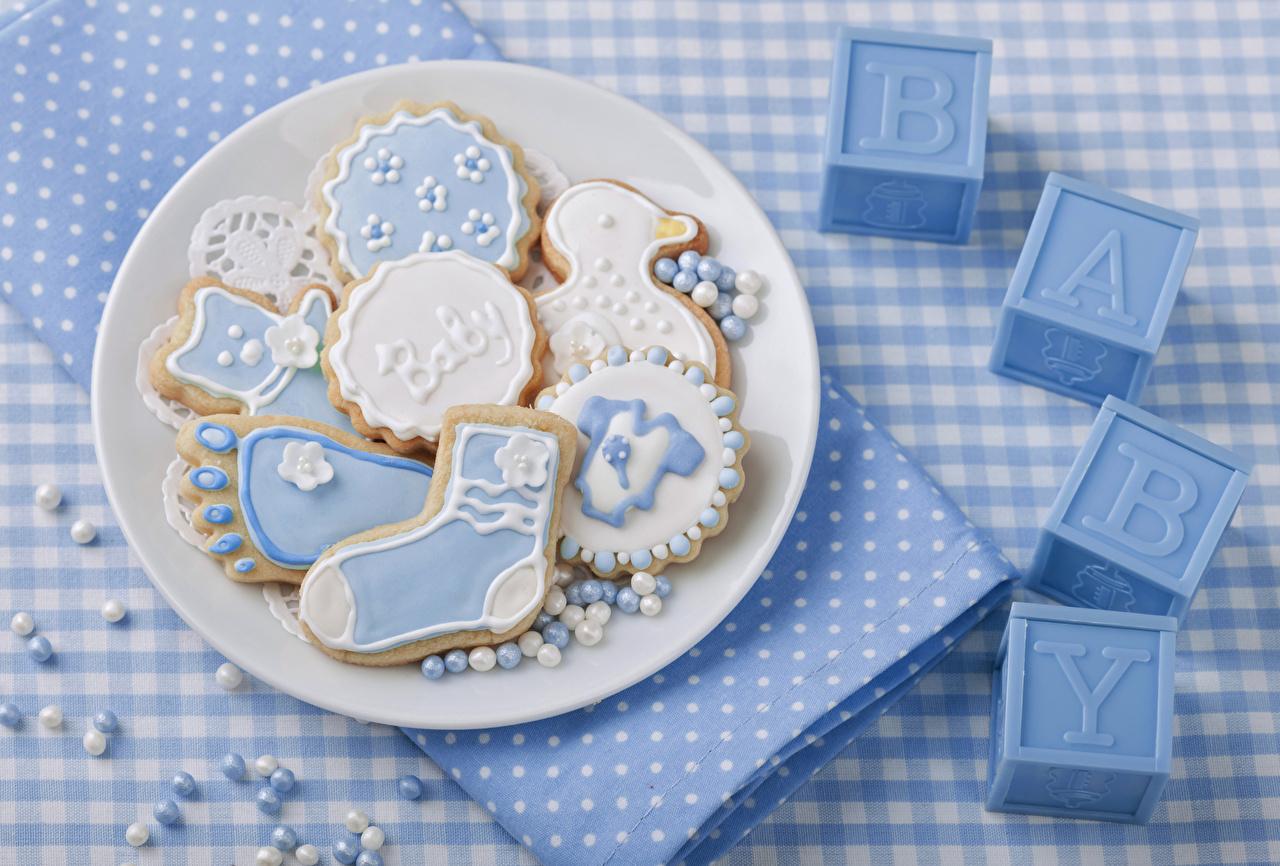 Фото Печенье Тарелка Продукты питания Дизайн Еда Пища тарелке дизайна