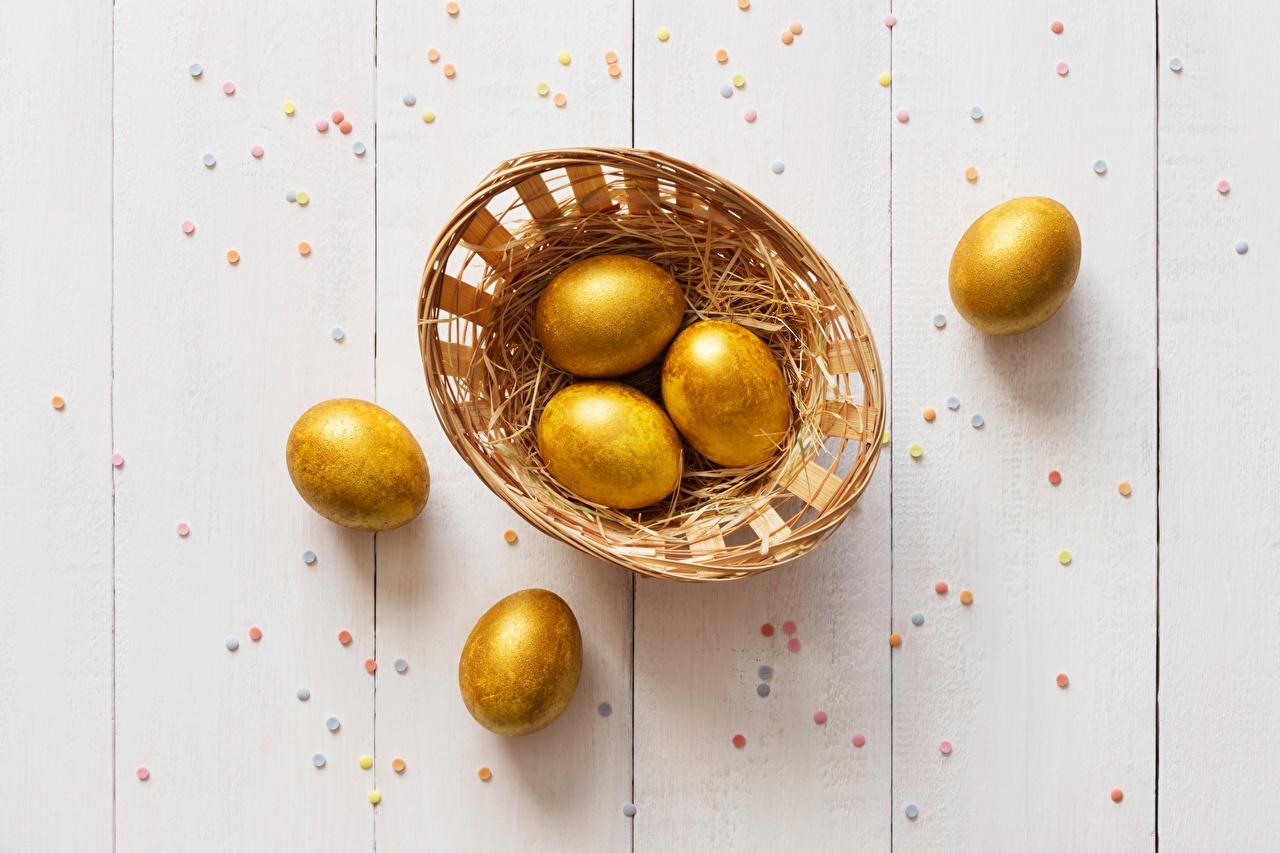 Фото Пасха Яйца Золотой Еда яиц яйцо яйцами золотые золотая золотых Пища Продукты питания