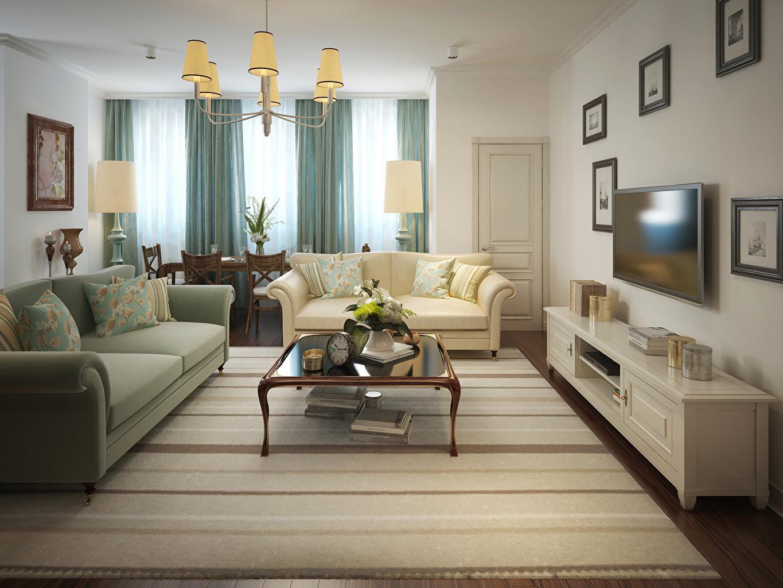 Фотография гостевая Интерьер Диван Люстра Дизайн Гостиная люстры диване дизайна