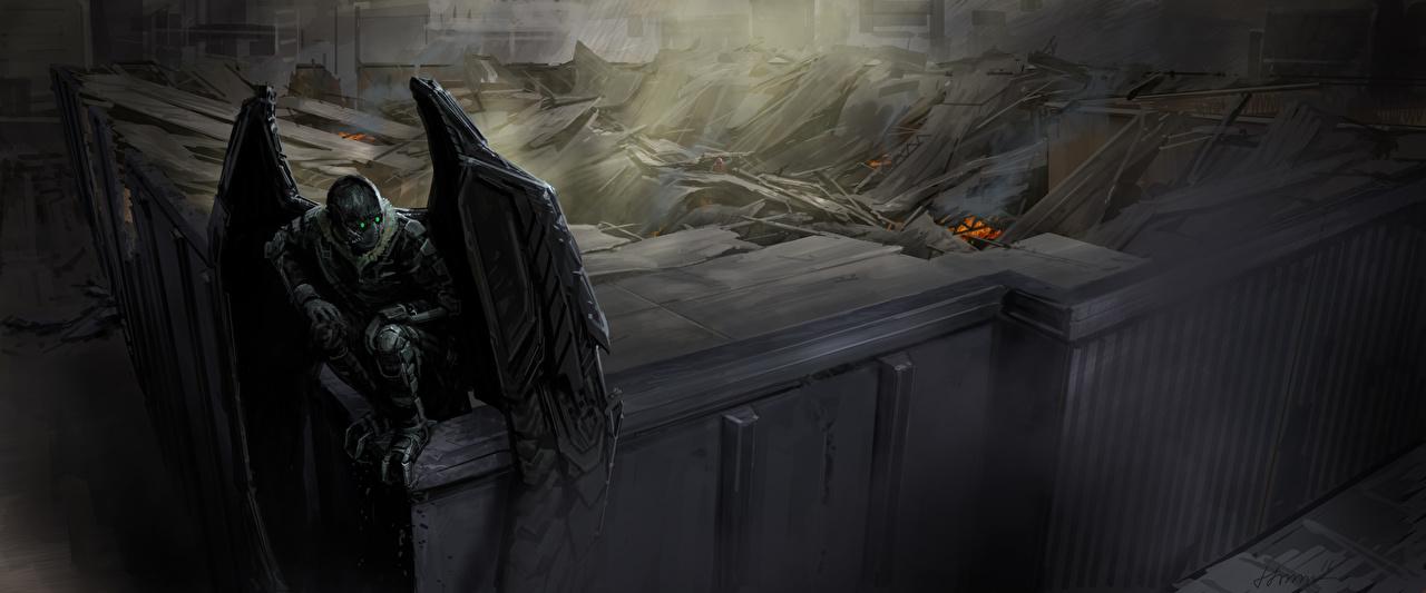Картинки Человек-паук: Возвращение домой супергерои Крылья Vulture кино Герои комиксов Фильмы