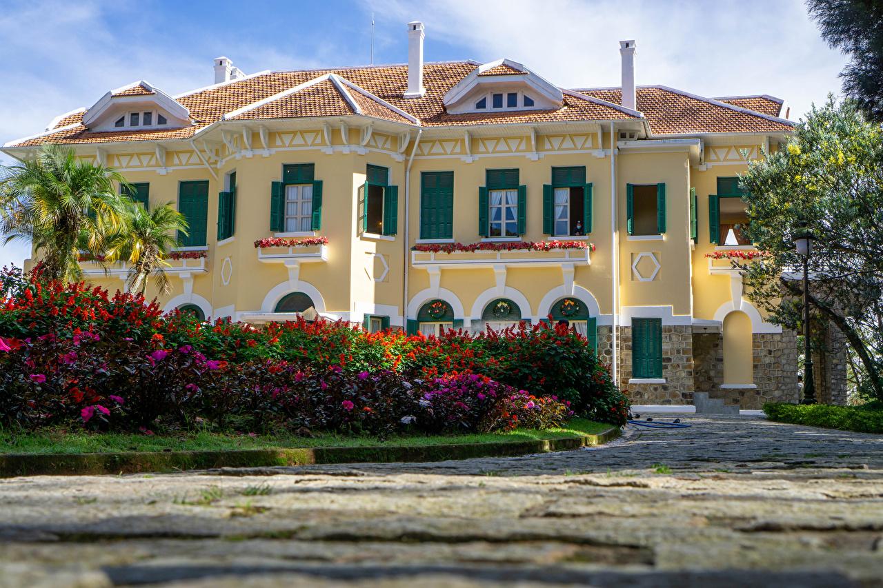 Фотография Дворец Вьетнам Bao Dai King Palace in Da Lat кустов Города дворца Кусты город