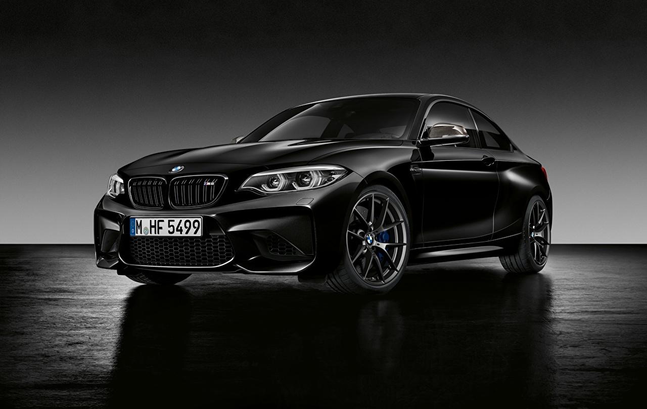 Фотографии BMW F87 Купе черная Автомобили БМВ черных черные Черный авто машина машины автомобиль