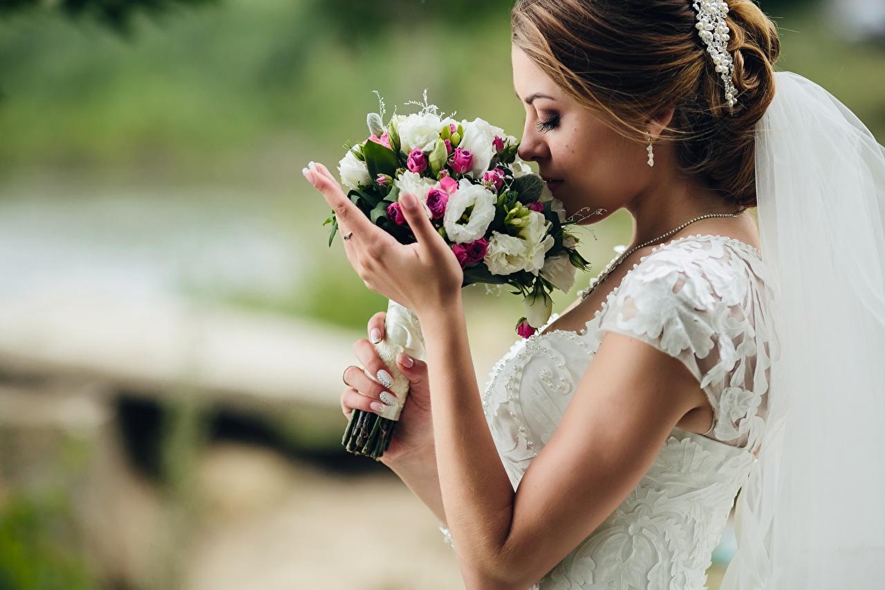 Фотография Невеста букет Девушки рука невесты Букеты девушка молодые женщины молодая женщина Руки
