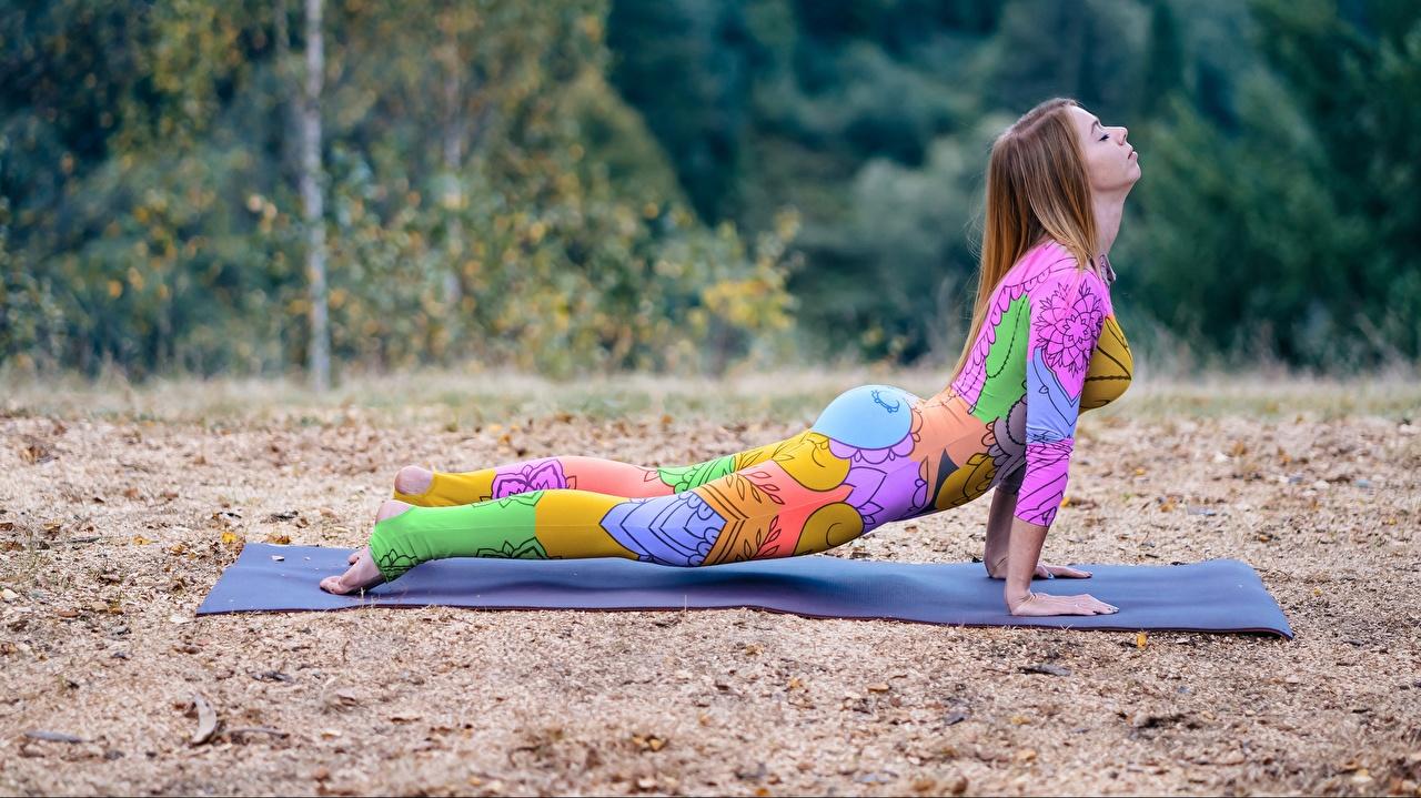 Картинки Планка упражнение Тренировка Поза Фитнес спортивные молодые женщины тренируется физическое упражнение позирует Спорт девушка Девушки спортивная спортивный молодая женщина
