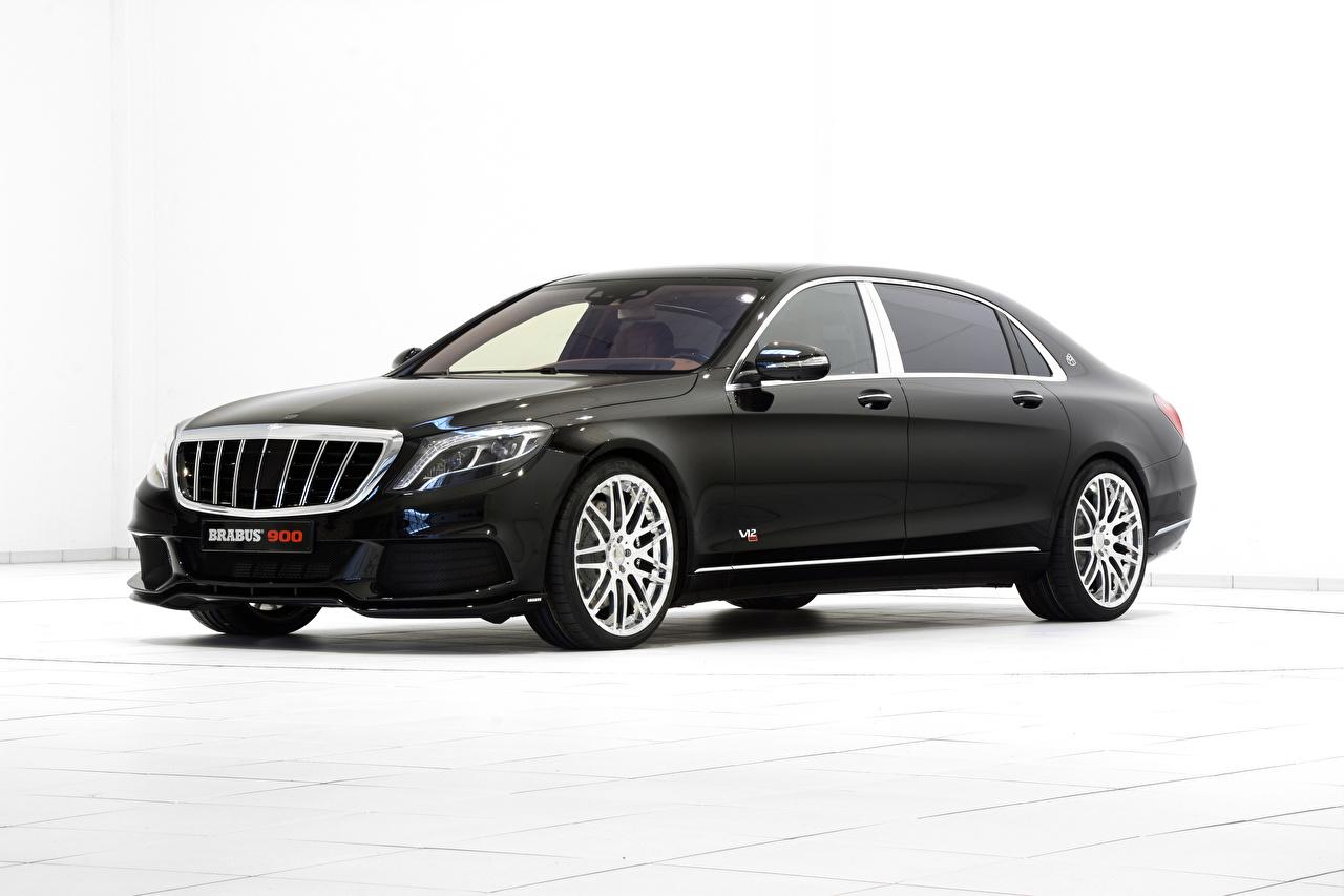 Фото машина Mercedes-Benz X222, Brabus, Coupe S-Class Брабус белом фоне черных авто машины автомобиль Автомобили Мерседес бенц Brabus Белый фон белым фоном Черный черные черная