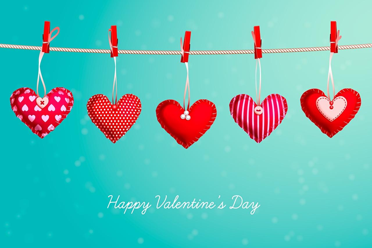 Фотографии День всех влюблённых Английский Сердце Прищепки Слово - Надпись День святого Валентина английская инглийские серце сердца сердечко слова текст