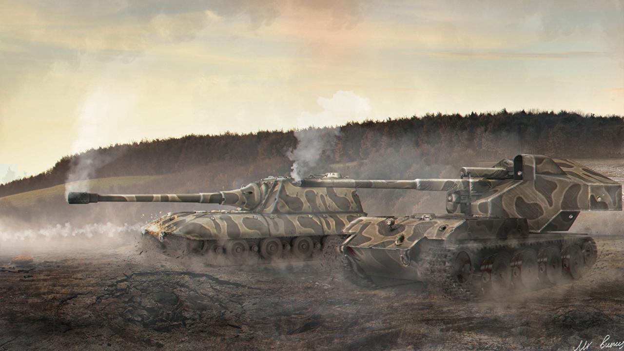 模様がある戦車もかっこいい壁紙