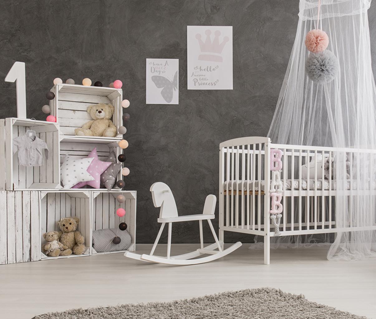Фото Детская комната Интерьер Плюшевый мишка Игрушки Дизайн Мишки