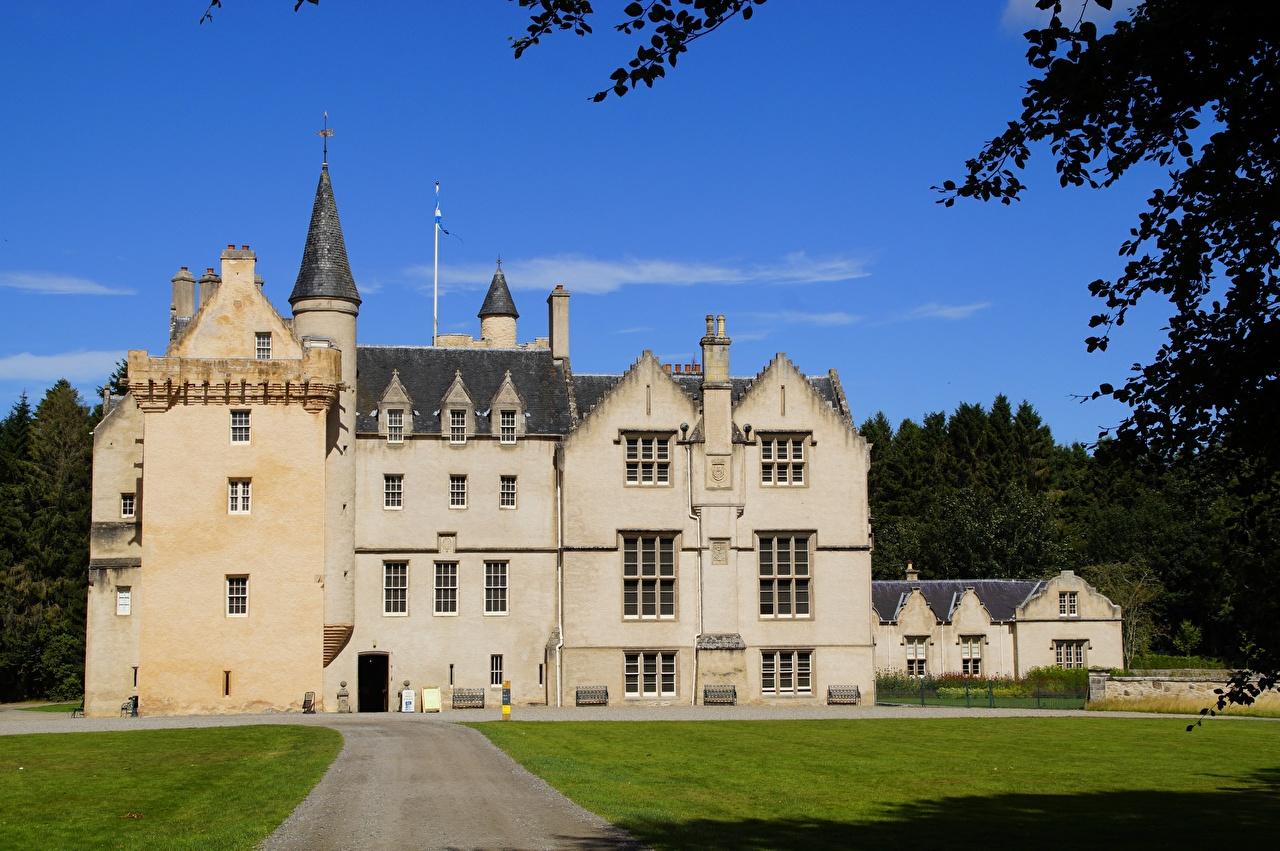 Фотография Шотландия Brodie Castle замок Города Замки город