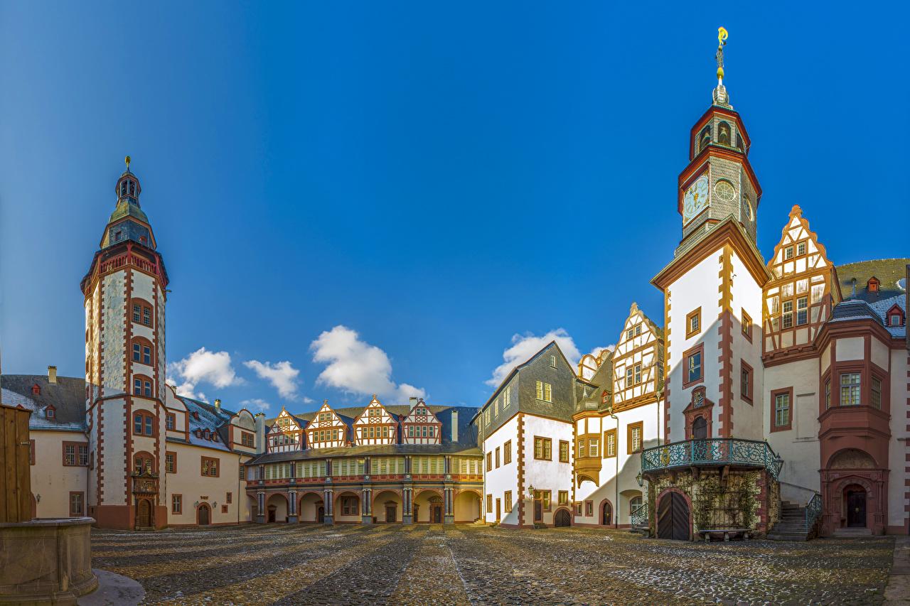 Фотографии Германия Weilburg Castle Замки Города замок город