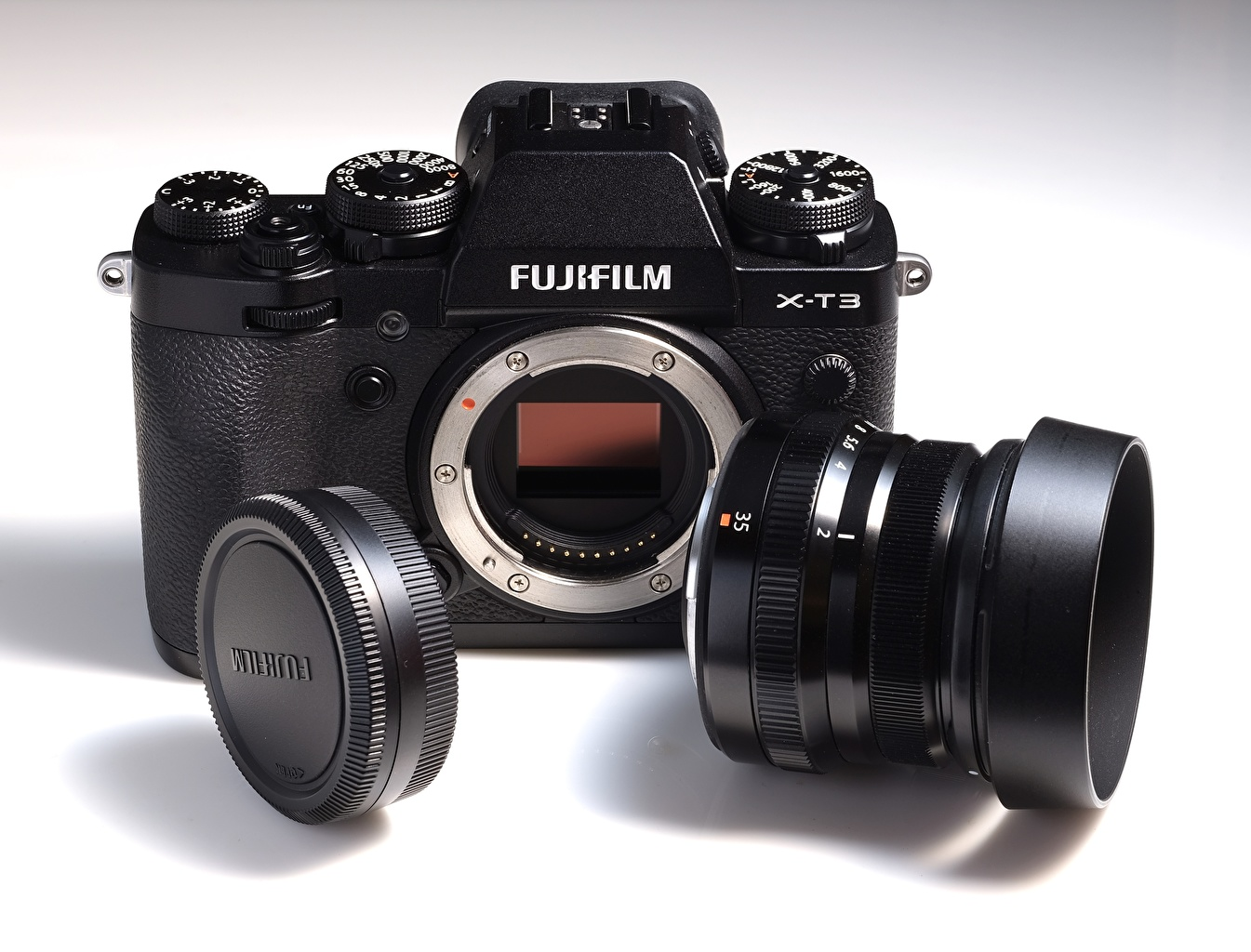 Картинка Объектив фотокамера FUJIFILM, X-T3 Крупным планом Фотоаппарат вблизи