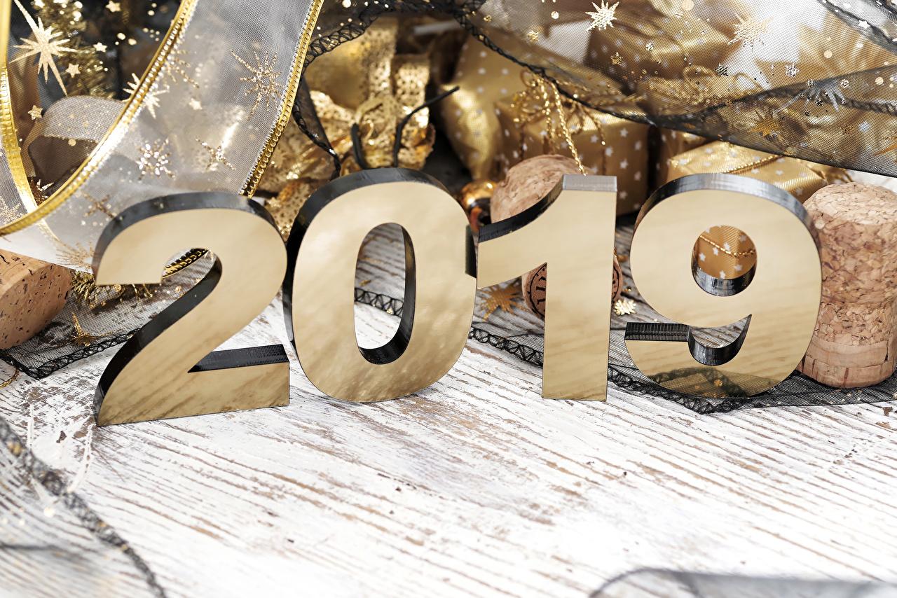 Фотография 2019 Новый год Доски Рождество