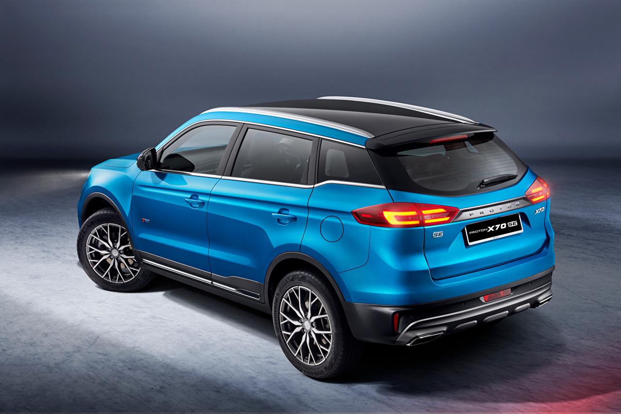 Обои для рабочего стола CUV Proton X70 Special Edition, 2021 синяя машина Металлик Кроссовер Синий синие синих авто машины Автомобили автомобиль