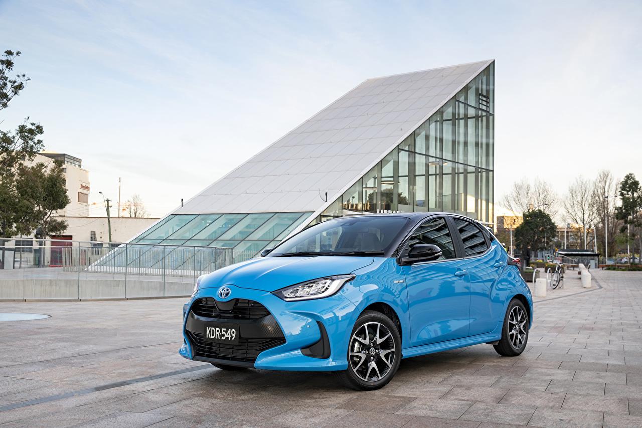 Картинка Toyota Yaris ZR Hybrid, AU-spec, 2020 Голубой Металлик Автомобили Тойота голубая голубые голубых авто машины машина автомобиль