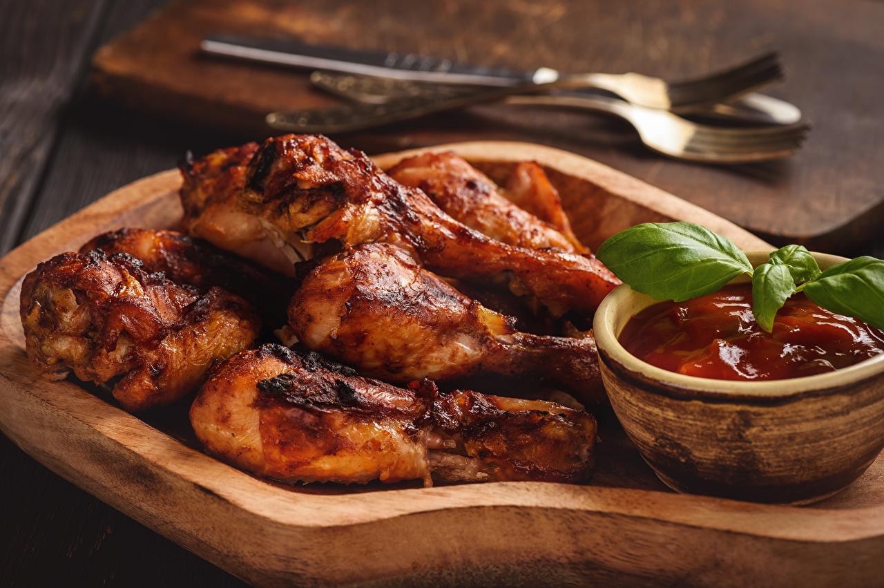 Обои Кетчуп Курица запеченная Еда кетчупа кетчупом Пища Продукты питания