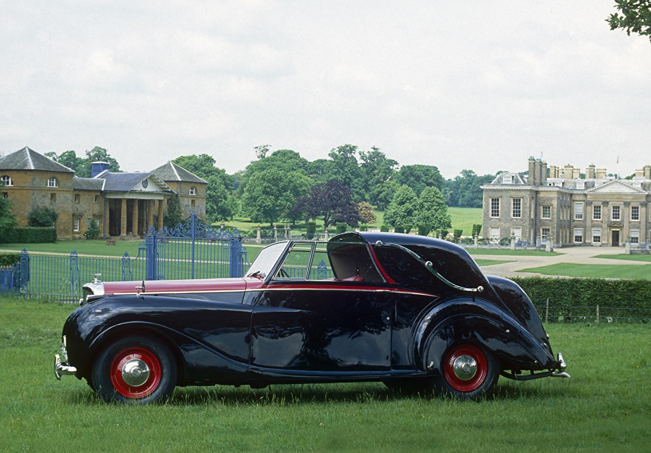 Фотография Bentley 1949 Mark VI Sedanca Coupe by Gurney Nutting винтаж Сбоку машина Металлик Бентли Ретро старинные авто машины Автомобили автомобиль